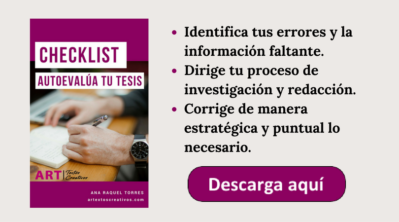 Checklist para autoevaluar tu tesis